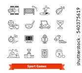 sport games   award thin line... | Shutterstock .eps vector #540375619