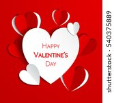 happy valentine day greeting... | Shutterstock .eps vector #540375889
