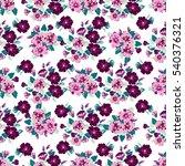 simple cute pattern in small... | Shutterstock .eps vector #540376321