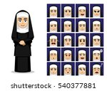 religion catholic nun cartoon... | Shutterstock .eps vector #540377881