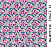 seamless cute pattern of small... | Shutterstock .eps vector #540378415