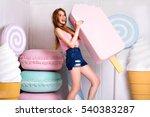 stunning attractive blonde girl ... | Shutterstock . vector #540383287