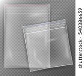 transparent plastic bag. set... | Shutterstock .eps vector #540386659