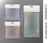 transparent plastic bag.... | Shutterstock .eps vector #540386671