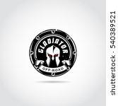 dark gladiator logo template.... | Shutterstock .eps vector #540389521