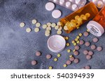 Top View Of Medicine Pills And...