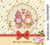 vintage valentines day card... | Shutterstock .eps vector #540398989