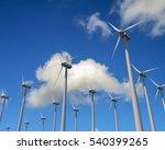 wind generator mills againsd... | Shutterstock . vector #540399265