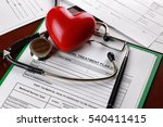 stethoscope medical documents... | Shutterstock . vector #540411415
