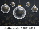 hanging glass christmas balls... | Shutterstock .eps vector #540412831