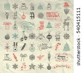 set of pen drawing artistic... | Shutterstock . vector #540415111