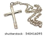 Silver Christian Cross Necklac...