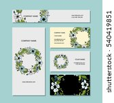 business cards design  floral... | Shutterstock .eps vector #540419851