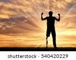 disabled person with prosthetic ... | Shutterstock . vector #540420229