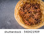 Star Anise And Cinnamon On The...