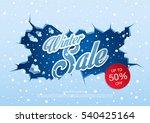 winter sale banner  vector...   Shutterstock .eps vector #540425164