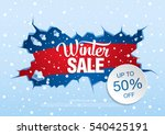 winter sale banner  vector... | Shutterstock .eps vector #540425191