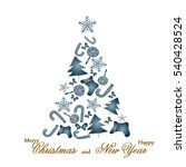 tree of sweets  christmas tree  ...   Shutterstock .eps vector #540428524