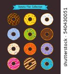donuts flat icons. donut and... | Shutterstock .eps vector #540430051