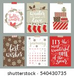 collection of christmas poster ... | Shutterstock . vector #540430735