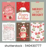 collection of christmas poster ... | Shutterstock . vector #540430777