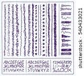 doodle decorative borders... | Shutterstock .eps vector #540433021