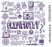 funny and wacky doodle... | Shutterstock .eps vector #540433045