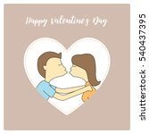 happy valentine s day with... | Shutterstock .eps vector #540437395