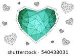 green heart isolated on white... | Shutterstock .eps vector #540438031