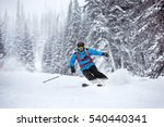skier moving very fast in... | Shutterstock . vector #540440341