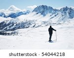 skier in high mountains | Shutterstock . vector #54044218