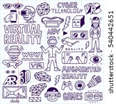 virtual and augmented reality... | Shutterstock .eps vector #540442651