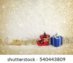 beautiful christmas decoration... | Shutterstock . vector #540443809