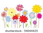 summer flowers. vector | Shutterstock .eps vector #54044425