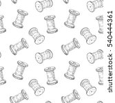 seamless pattern with sewing... | Shutterstock .eps vector #540444361