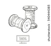 two spools of thread.  vector... | Shutterstock .eps vector #540444385