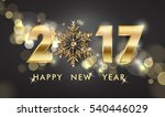 2017 happy new year background. ... | Shutterstock .eps vector #540446029