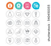 wedding and party icons. dress  ... | Shutterstock .eps vector #540450355