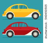isolated vector cars. flat... | Shutterstock .eps vector #540450505