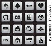 set of 16 editable game icons....