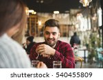 smiling man sitting in the... | Shutterstock . vector #540455809