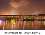 illuminated bridge in plock and ... | Shutterstock . vector #540458449