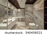 white urinal and washbasin and... | Shutterstock . vector #540458521