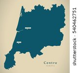 modern map   centro portugal pt ... | Shutterstock . vector #540462751