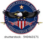 american eagle with usa flags | Shutterstock .eps vector #540463171