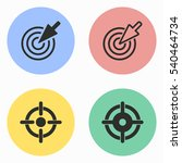 target vector icons set.... | Shutterstock .eps vector #540464734