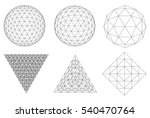 sacred geometry. dodecahedron.... | Shutterstock .eps vector #540470764