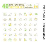 vector graphic set. icons in... | Shutterstock .eps vector #540473161