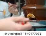 chocolate fountain | Shutterstock . vector #540477031