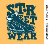 street wear label design with a ... | Shutterstock .eps vector #540477985